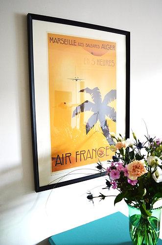 Affiche Air France - Méditerranée