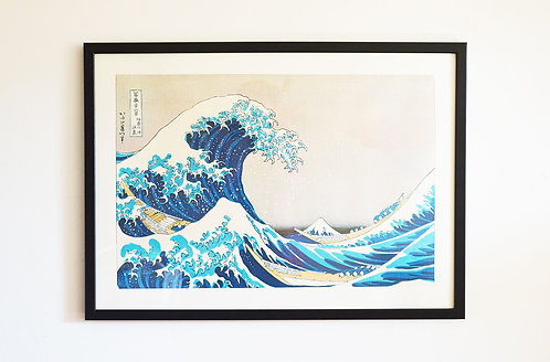Affiche La Vague - Hokusai