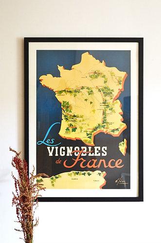 """Affiche """"Les Vignobles de France"""""""