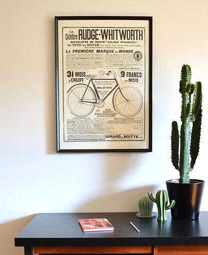 """Affiche publicitaire """"Rudge-Whitworth"""""""