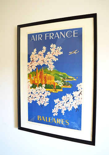 Affiche Air France - Baléares