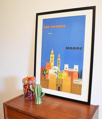 Affiche Air France - Maroc