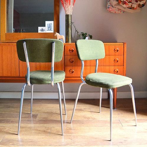 Paire de chaises Tweed Olive