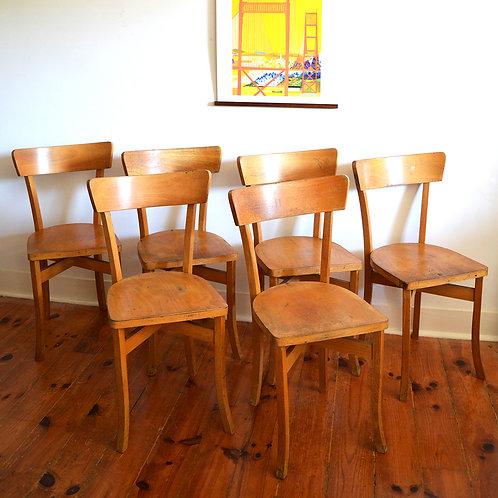 Série de 6 chaises bois