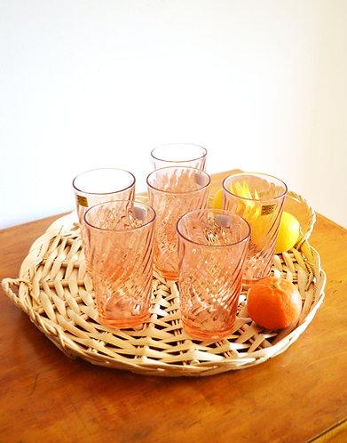Série de 6 grands verres