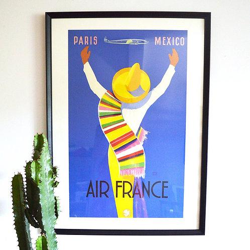 Affiche Air France - Mexico