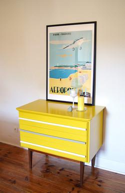 Commode jaune