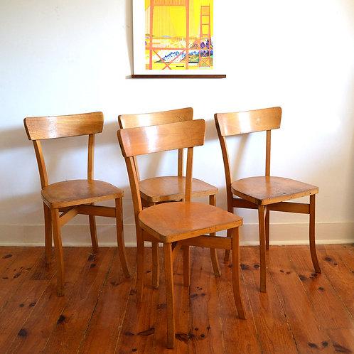 Série de 4 chaises bois