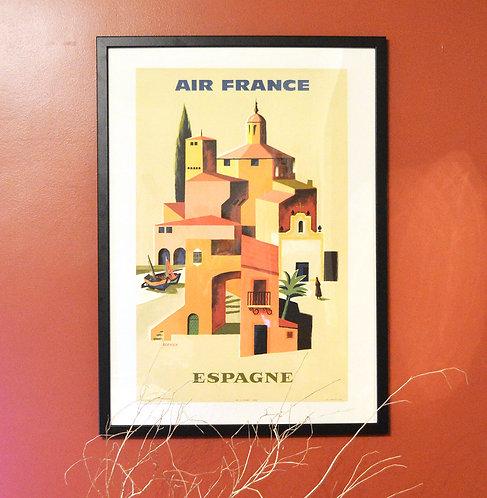 Affiche Air France Espagne
