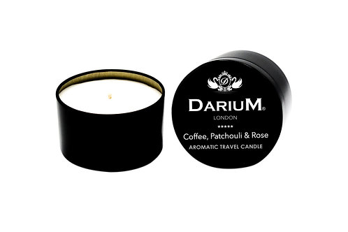 Coffee, Patchouli & Rose - Travel Candle