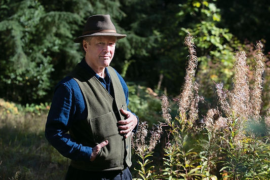 Kim Stafford - with fireweed - photo by
