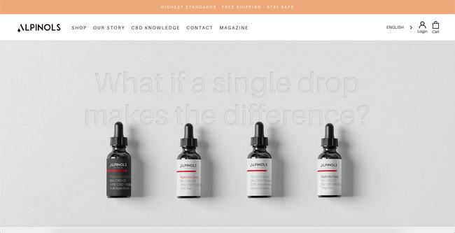 Custom design for THC Oils brand from Switzerland