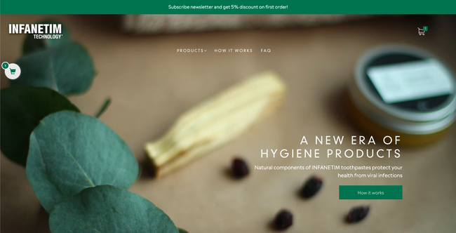 Shopify store for Hygiene products