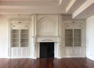 Custom Built-In Fireplace Surround
