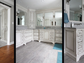 Bright and Luxurious Master Bath has Plenty of Storage
