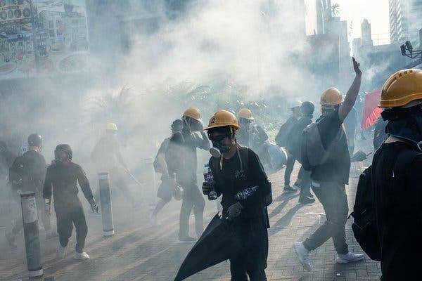 This image is claimed as fair use under Australian copyright law. The Hong Kong protests