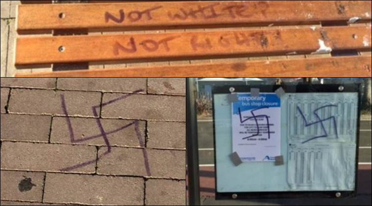 This image is claimed as fair dealing under Australian copyright law. More swastika's found in Bondi Beach