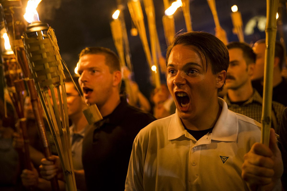 This image is claimed as fair dealing under Australian copyright law. It's relevant to the blog article and shows angry privileged white men protesting about being oppressed. Who would have thought?
