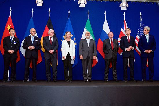 (This image is claimed as Fair dealing under Australian copyright law. Here we have the 5+1 group with the Iranian foreign minister, Mr Zarif. The deal is looking good on paper but will it prove to be good on the ground)