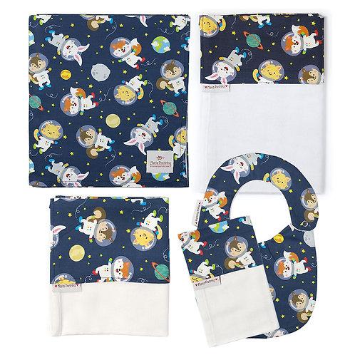 Kit de Bichinhos Astronautas com 5 Peças