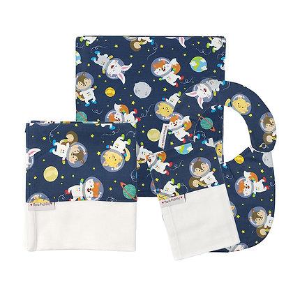 Kit de Bichinhos Astronautas com 4 Peças