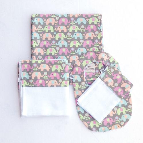 Kit Elefantes Coloridos com 4 peças