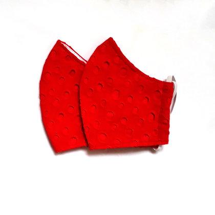 Mascara em Laise Vermelha - 3 camadas
