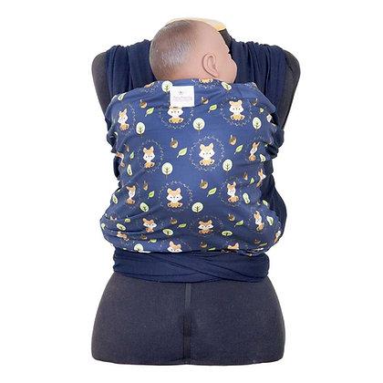 Wrap Sling Azul Marinho com Frente de Raposinhas