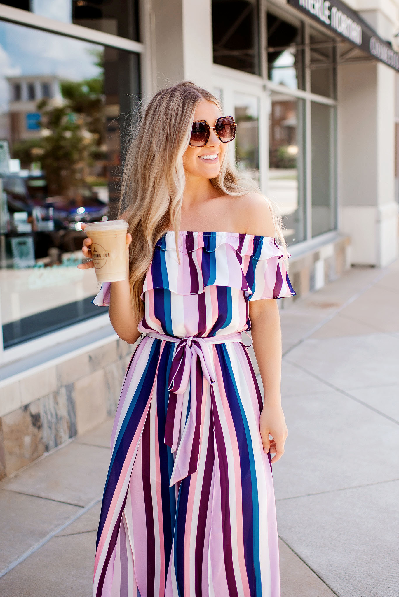 too cool striped slit leg jumpsuit 3