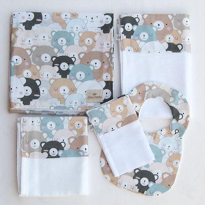 Kit Ursos Coloridos com 5 peças