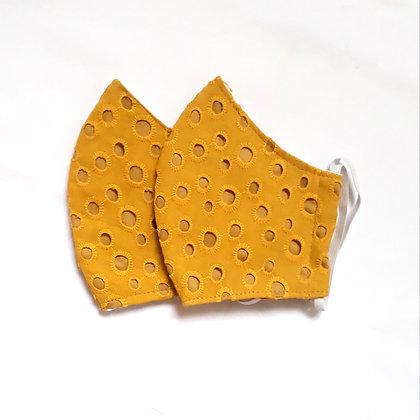 Mascara em Laise  Mostarda - 3 camadas