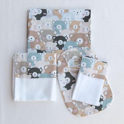 Kit Safari Ursos Coloridos com 4 peças