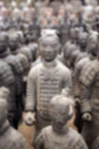 Replica of terracotta warriors found in