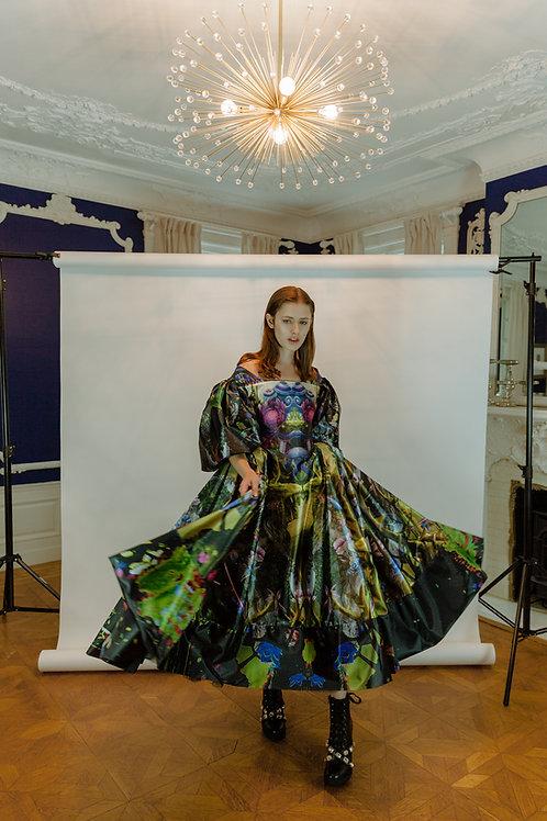 Printed rococo dress