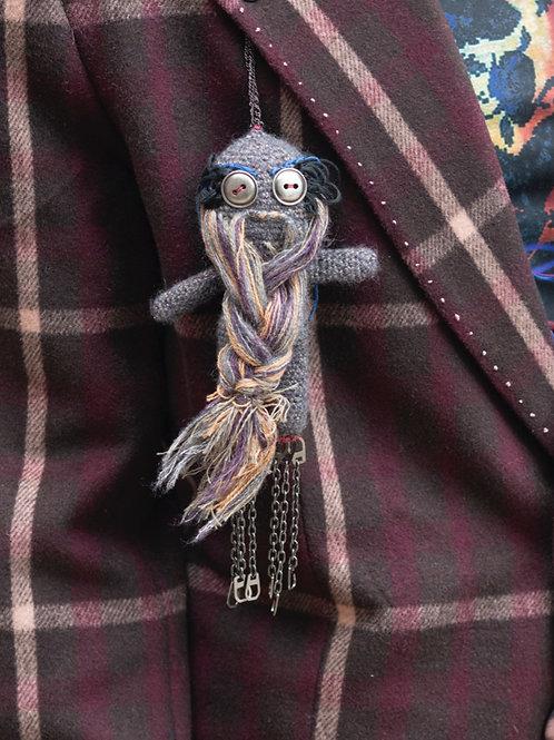 Knitted beard doll