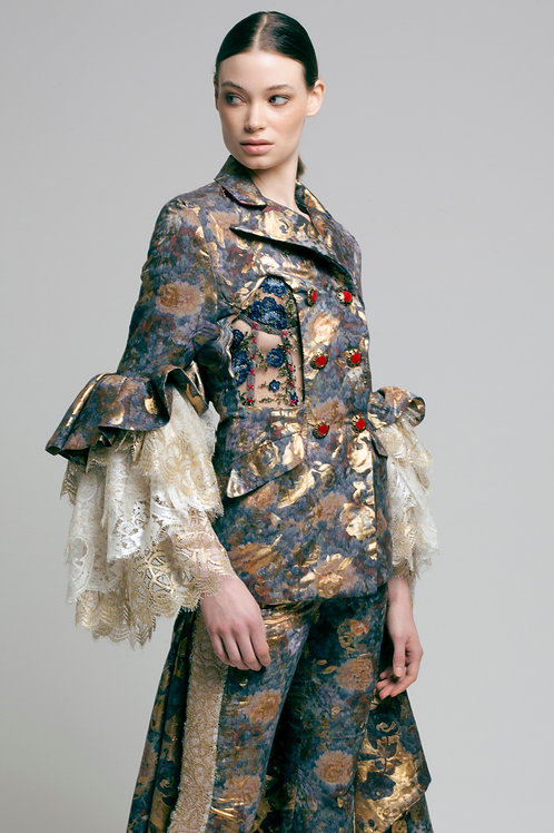 Floral gold tailored jacket