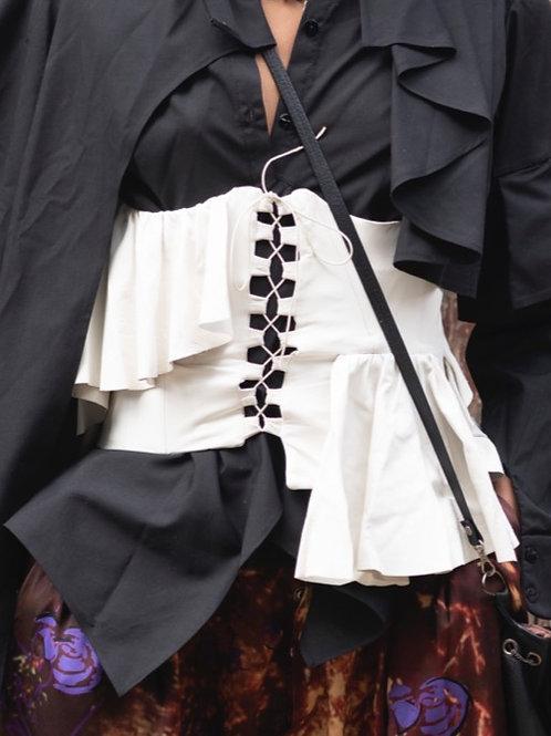 White leather corset