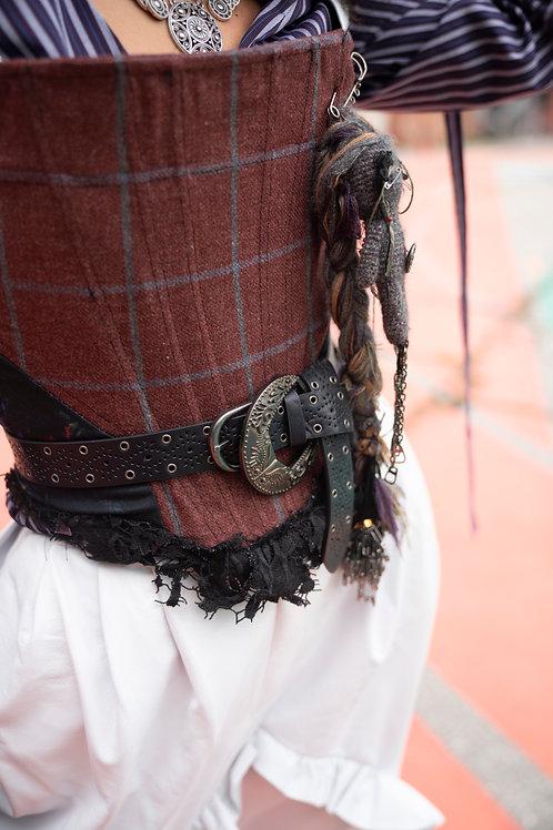Tailored plaid/print Yaga's corset