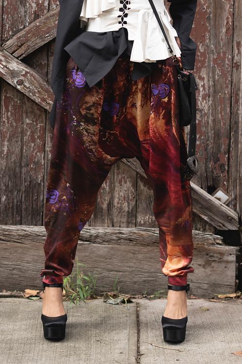 Yaga's Print silk trousers