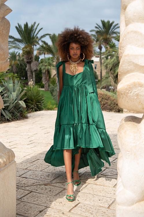 Green silk Doll dress