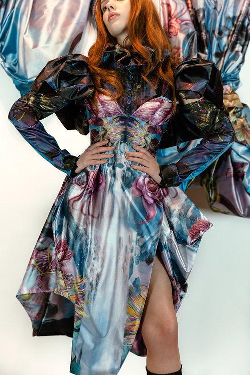 Printed victorian dress