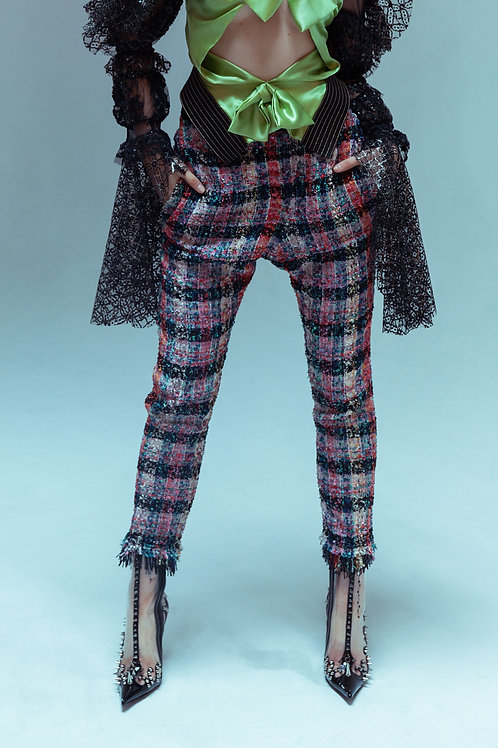 Tweed tailored trousers