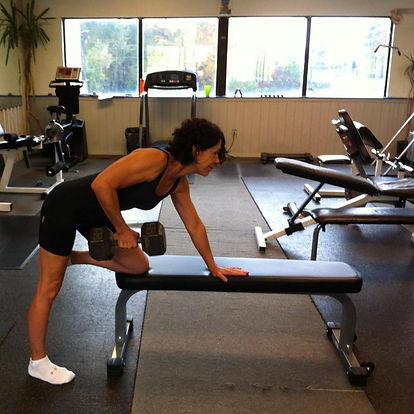 Female Strength Training weight lifter