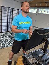 Online wrestling class coach