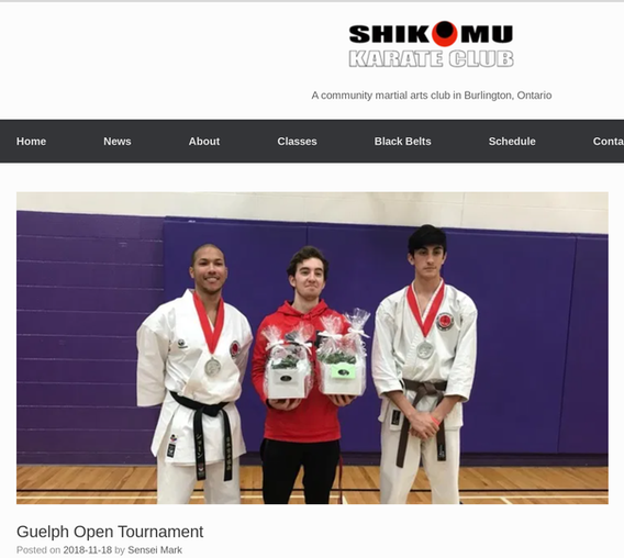 Karate Guests of Guelph Open