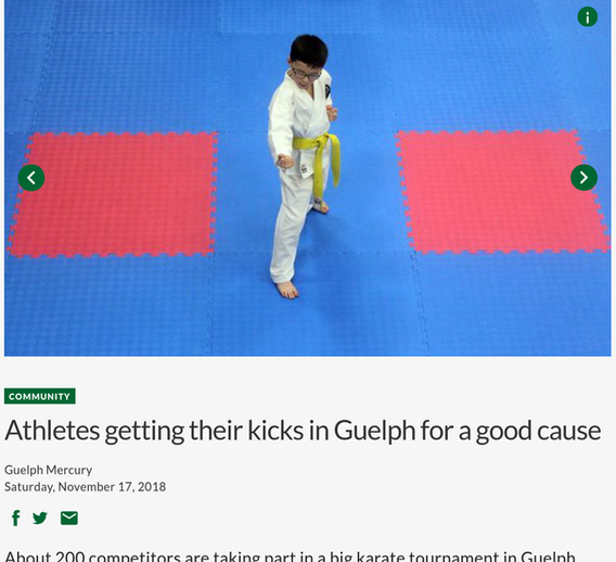 Athletes getting their kicks in Guelph for a good cause