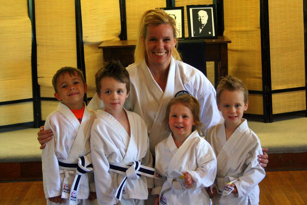 Kinder Karate Class at Tri-City Training with Sensei Amanda McAlpine