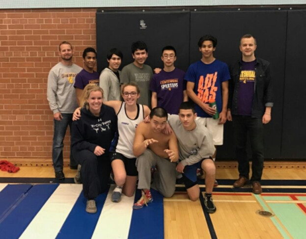 Spartan wrestlers compete at Guelph Wrestling Tournament with Coach Tom Cako