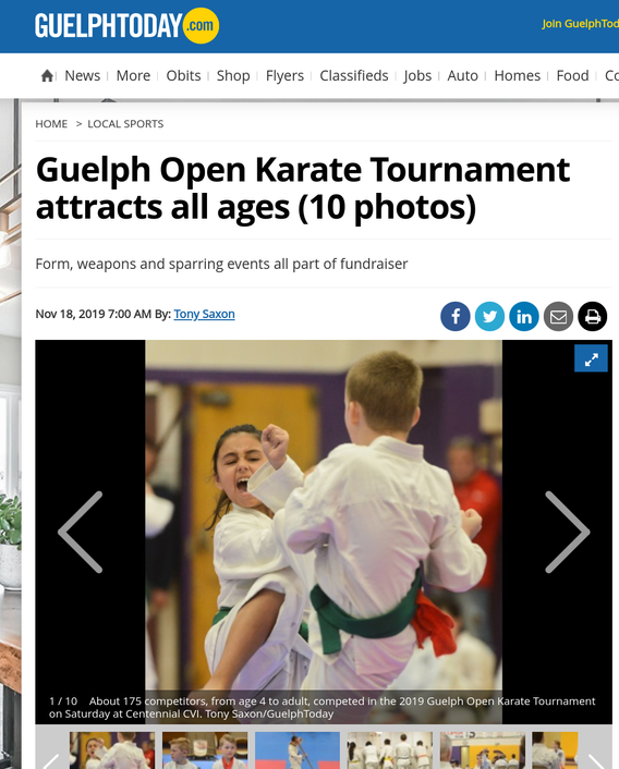 Guelph Open Karate Tourn Attracts all Ages