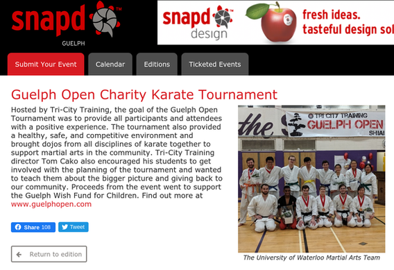 Guelph Open Charity Karate Tournament